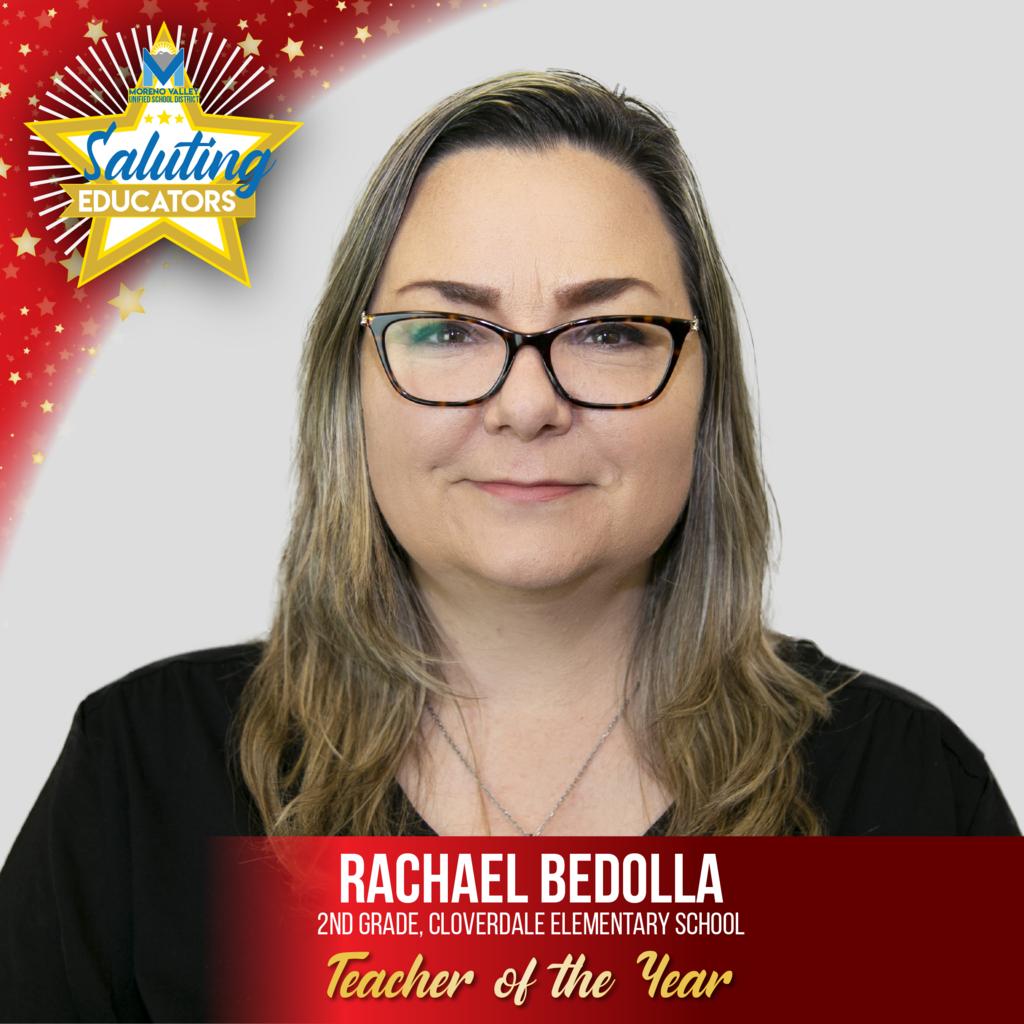 Rachael Bedolla, Cloverdale Elementary, Teacher of the Year