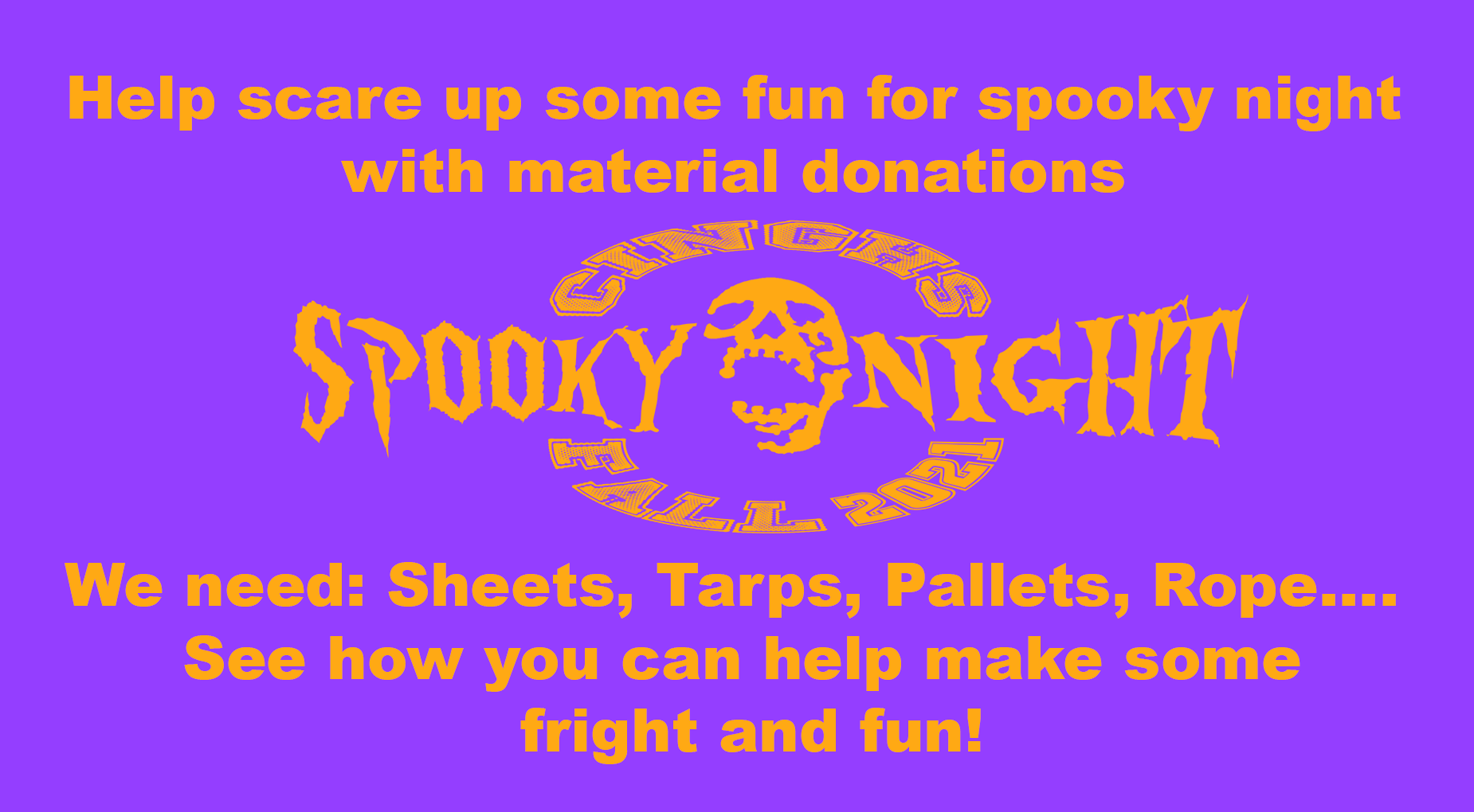 Spooky Night Donations