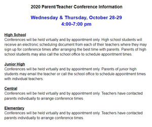 Parent teacher district information