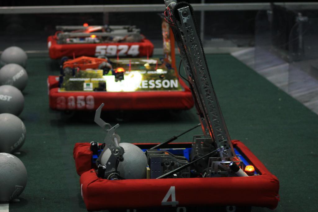 Robot on field before match begins