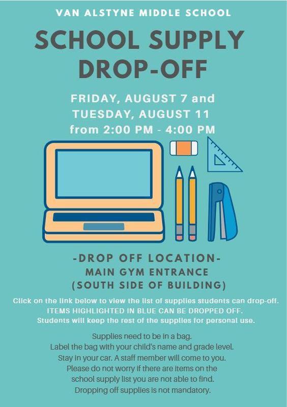 VAMS School Supply Drop-Off Thumbnail Image