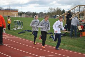 Pic of track athletes running
