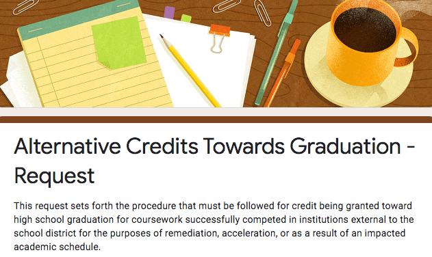 Alternative Credits Towards Graduation