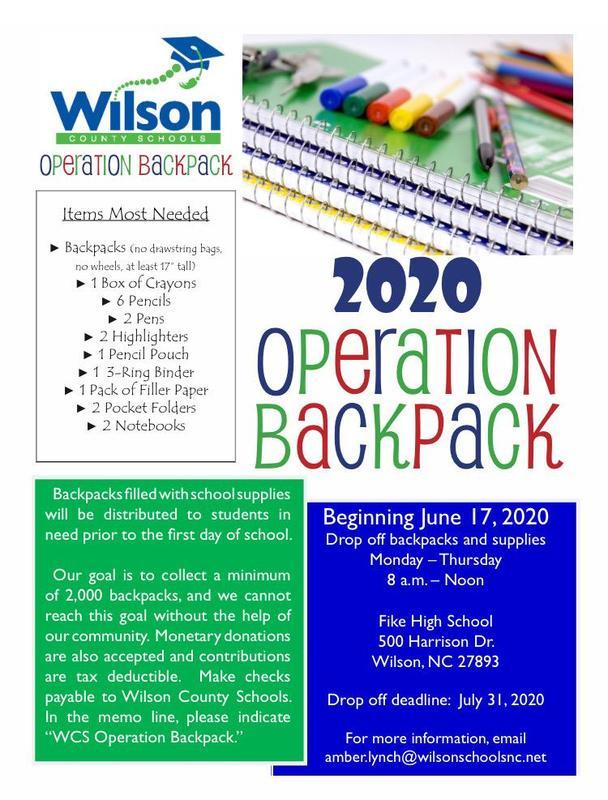 Operation Backpack flyer.