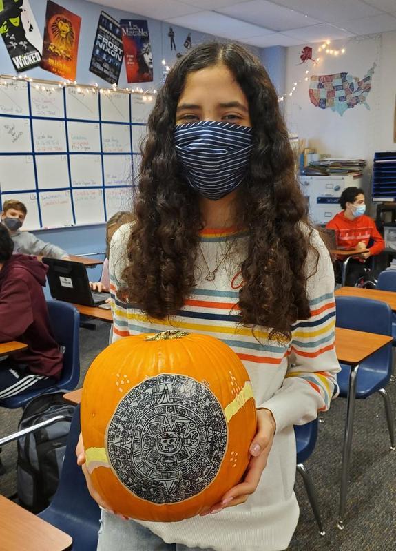Winner of AP World History pumpkin contest