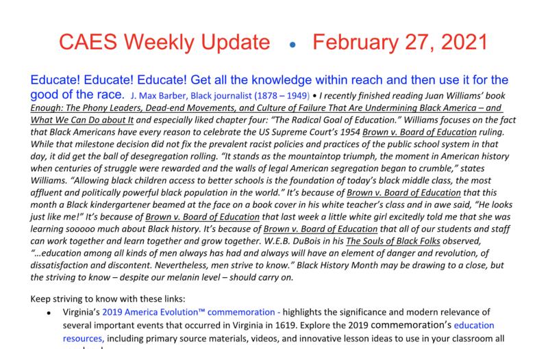 Miniature of Weekly Update