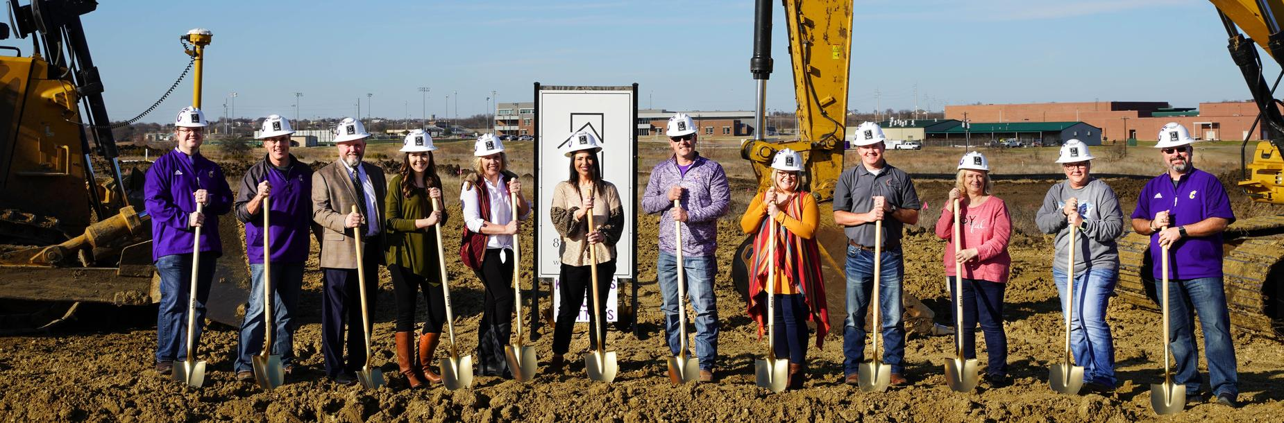 faculty at ground breaking