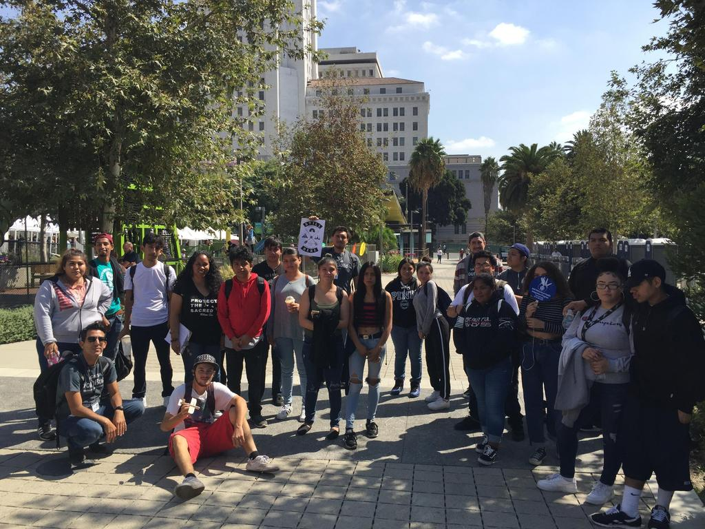 LA CAUSA students on Indigenous People's Day
