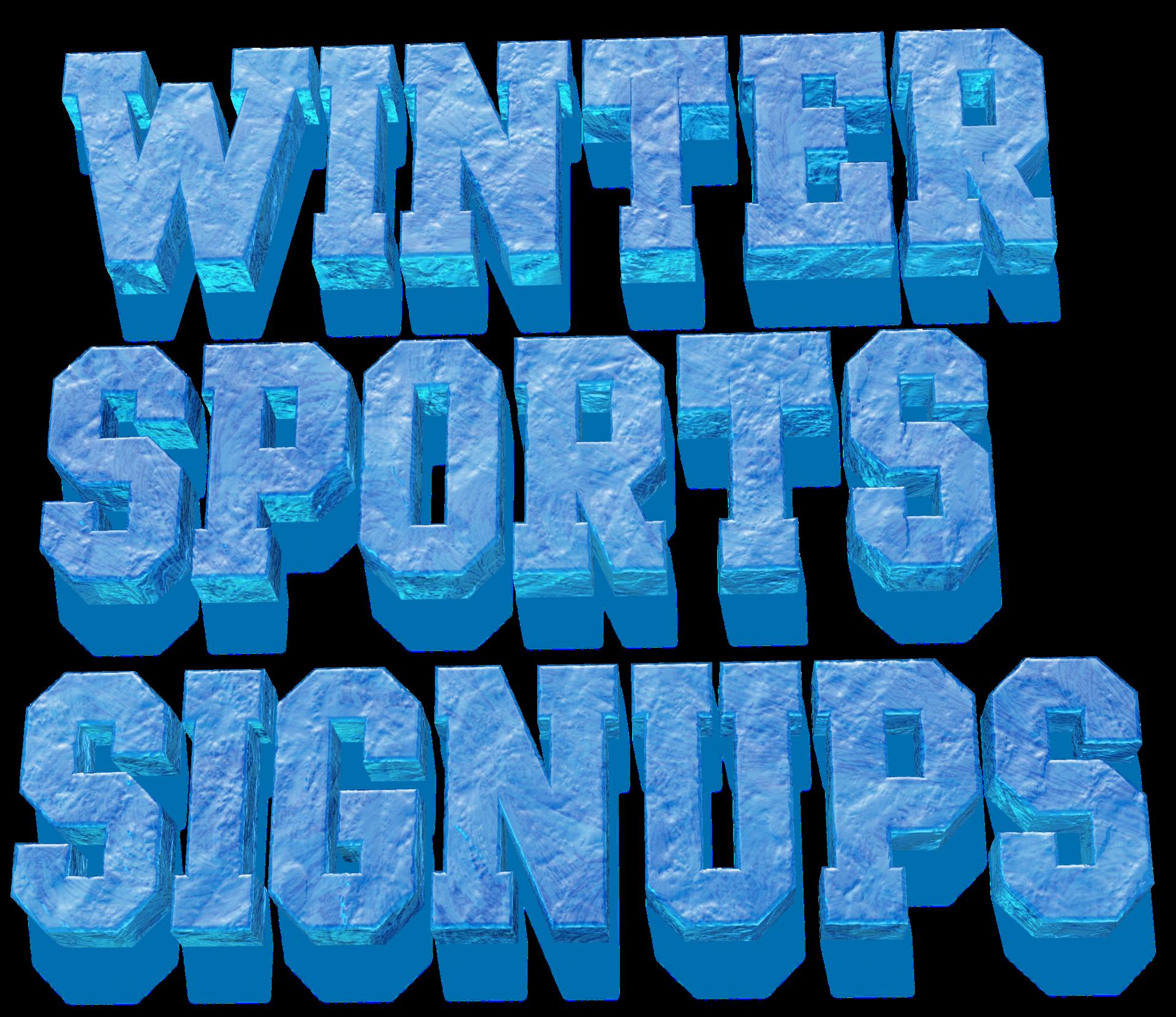 Winter Sports Sign Ups