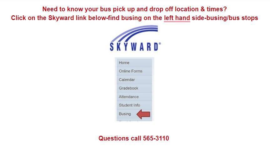 Skyward Busing