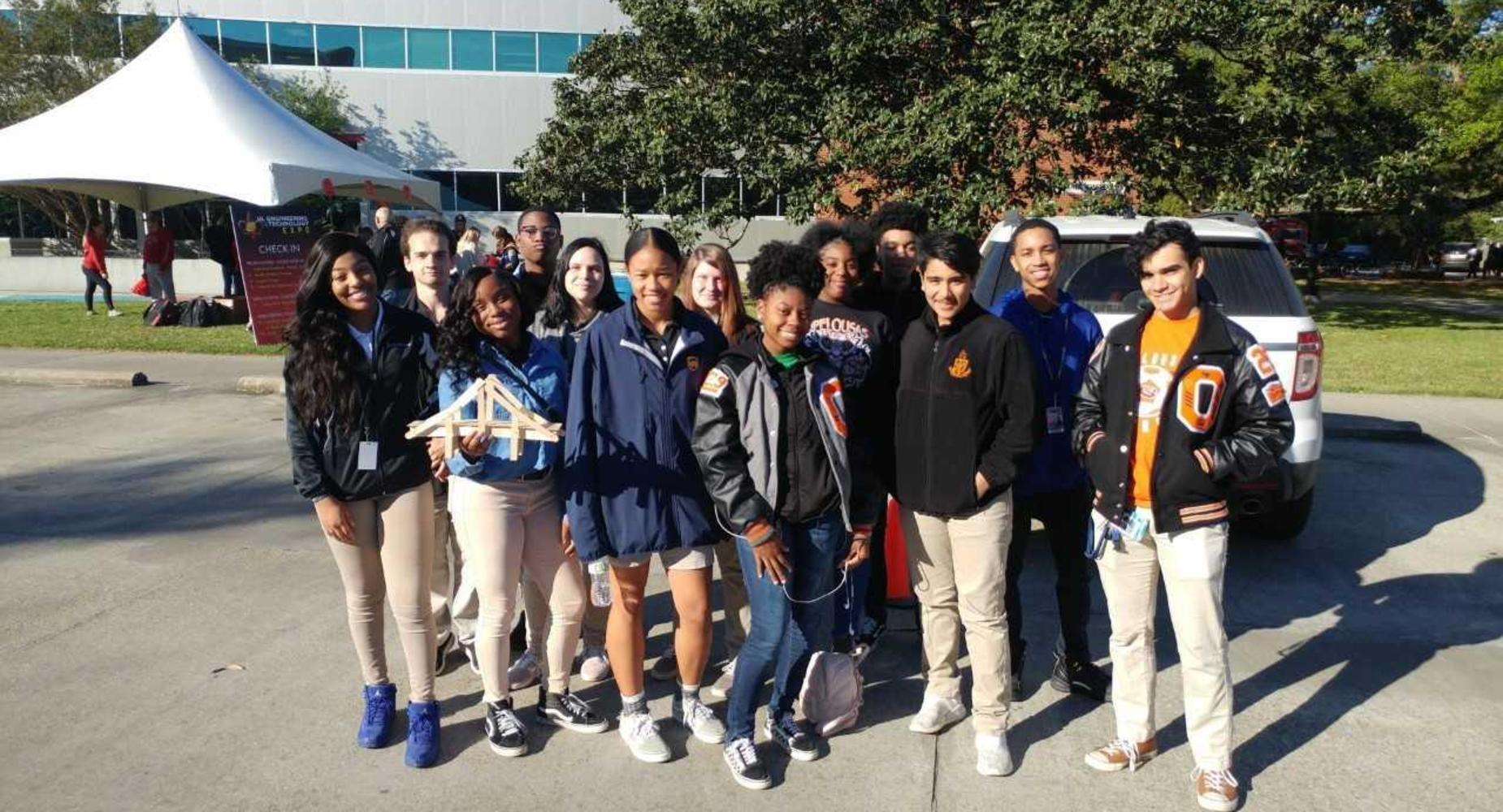 OHS Juniors and Seniors interested in engineering at Opelousas Senior High School attended the University of Louisiana-Lafayette's Engineering Expo on Wednesday, March 27