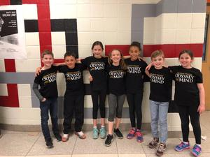 Odyssey of the Mind Team at States.