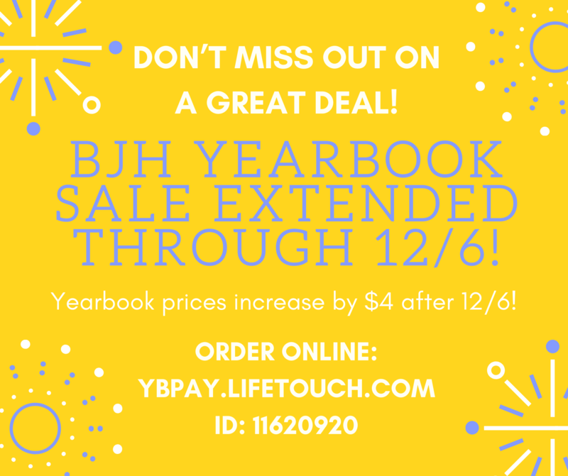 2019-20 BJH Yearbooks On Sale Now Featured Photo