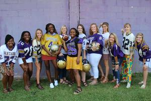 Pictured is the 2019 Homecoming Court.  From left to right:  Taylor Drafts, Jaylah Barr, Hannah Derrick, Kiara Burton, Annabelle Summers, Jordan Bell, Aliyah Shealy, Susan Taylor, Lauren Caughman, Jordyn Peake, Gabrielle Hall, Abigail Blume.