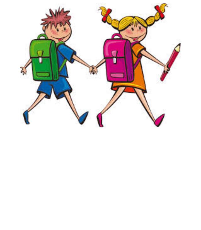 Children with bookbags