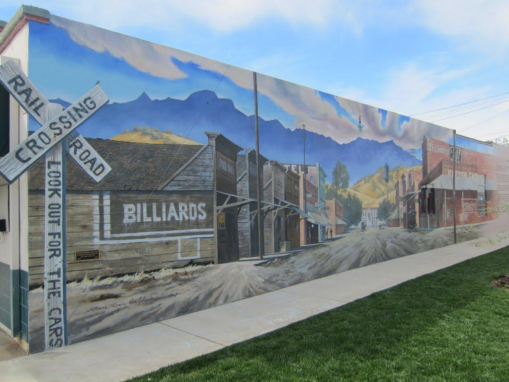 City of Exeter- Billiards Mural Near Frosty King