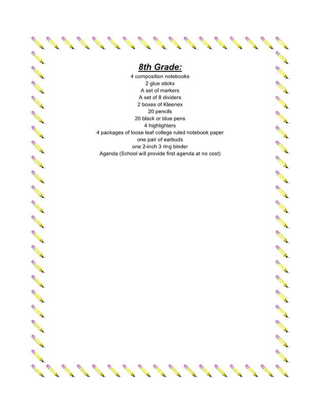 Gerder Junior High School Supply List (Grades 8)  - 2018-2019.png