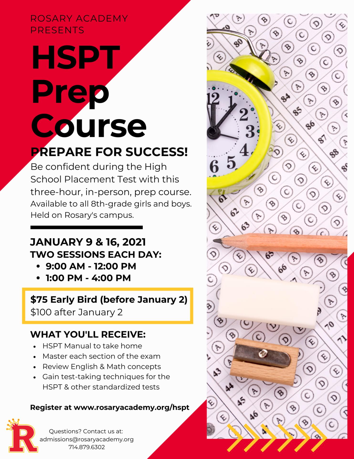 prep course flyer