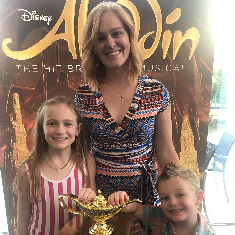 Bria, Ian, and Melody at Aladdin