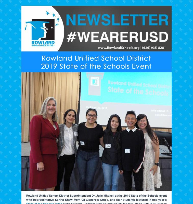 RUSD News 11/6/19 - State of the Schools Video Thumbnail Image