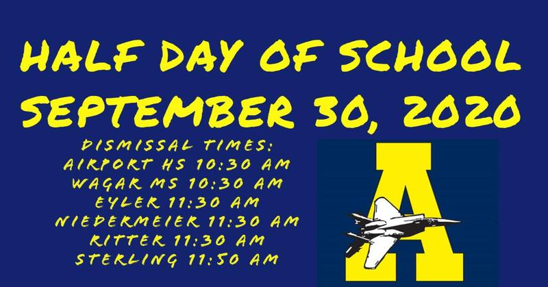 1/2 day of school dismissal times