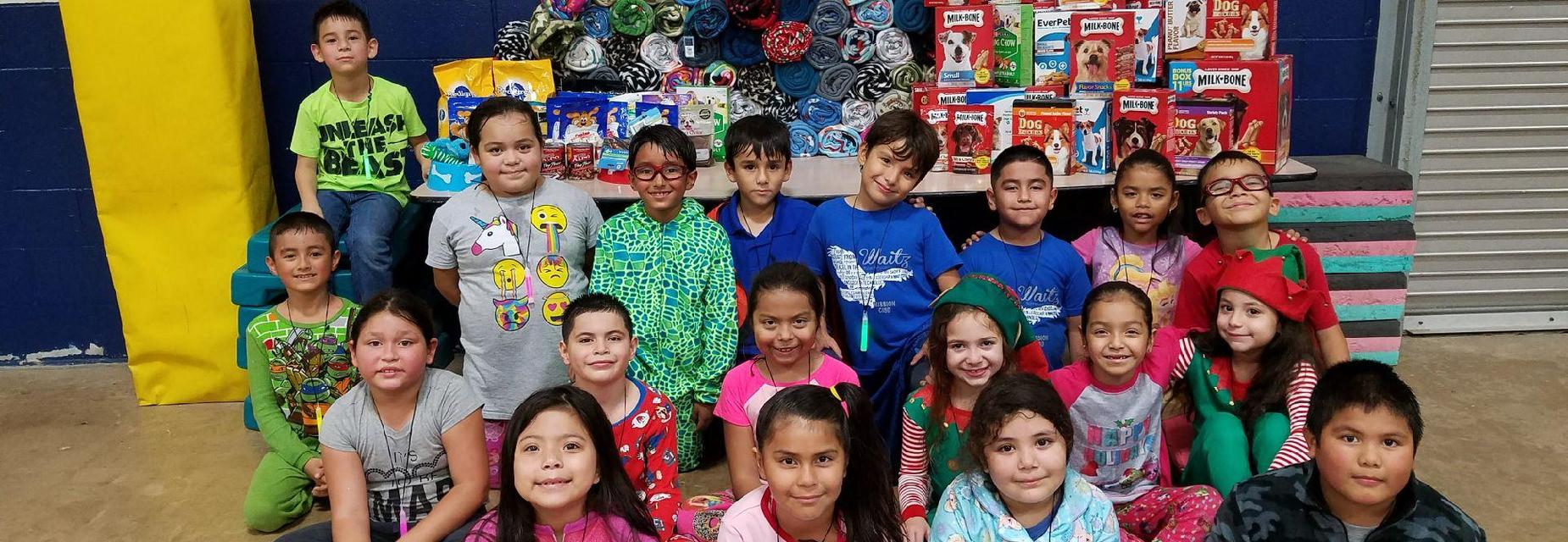 2nd graders donate to PVAC