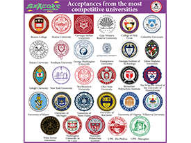 Acceptances from the most competitive universities - Seniors 2021 Thumbnail Image