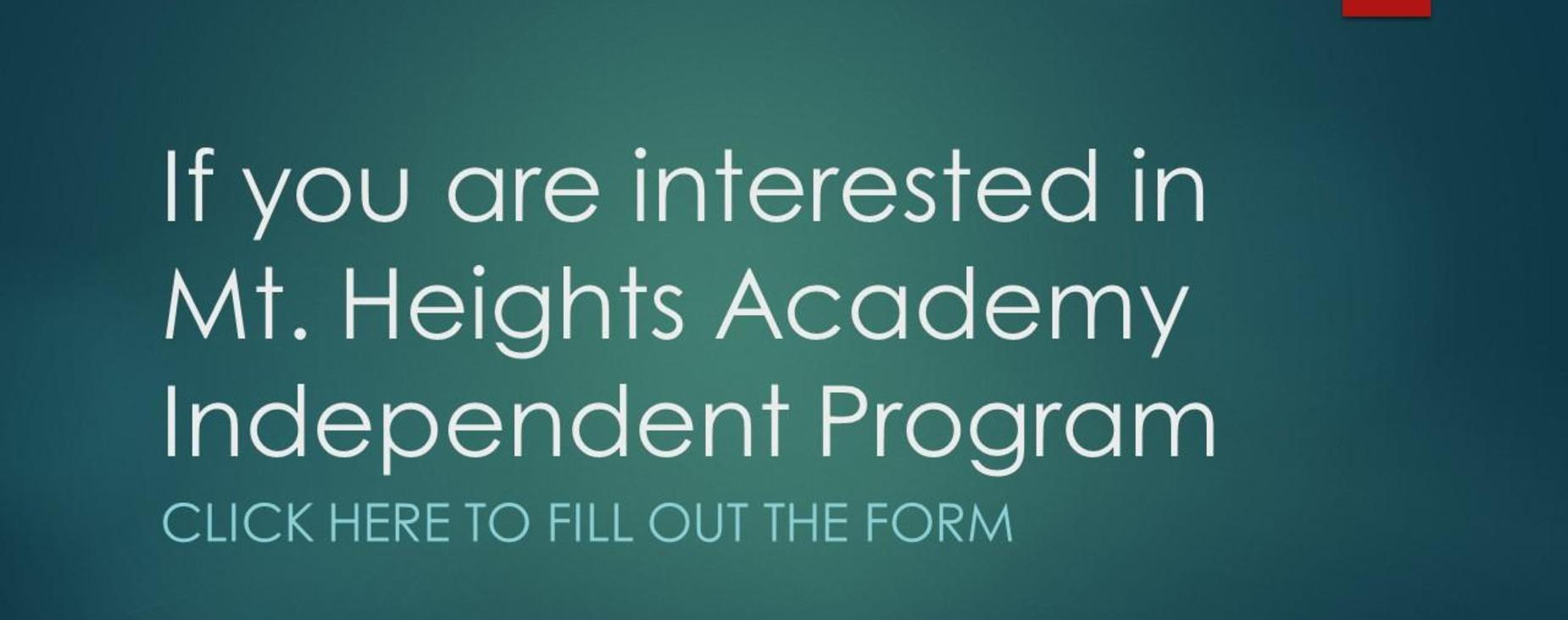 Mt. Heights Academy Interest Form