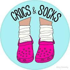 socks and crocs