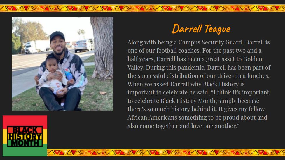 staff spotlight on Darrell Teague
