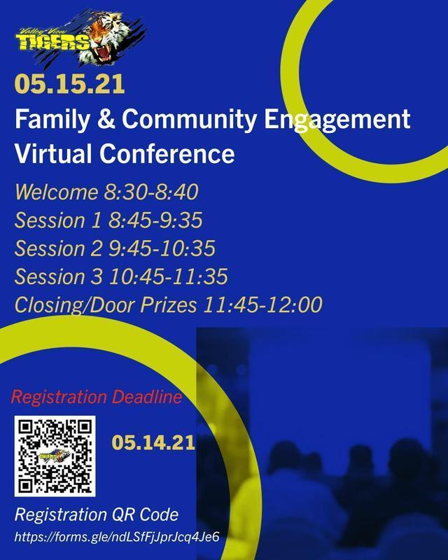 FAMILY & COMMUNITY ENGAGEMENT VIRTUAL CONFERENCE/CONFERENCIA VIRTUAL DE COMPROMISO FAMILIAR Y COMUNITARIO Thumbnail Image
