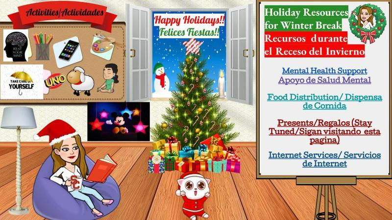 Resources for Families during the Holidays Featured Photo