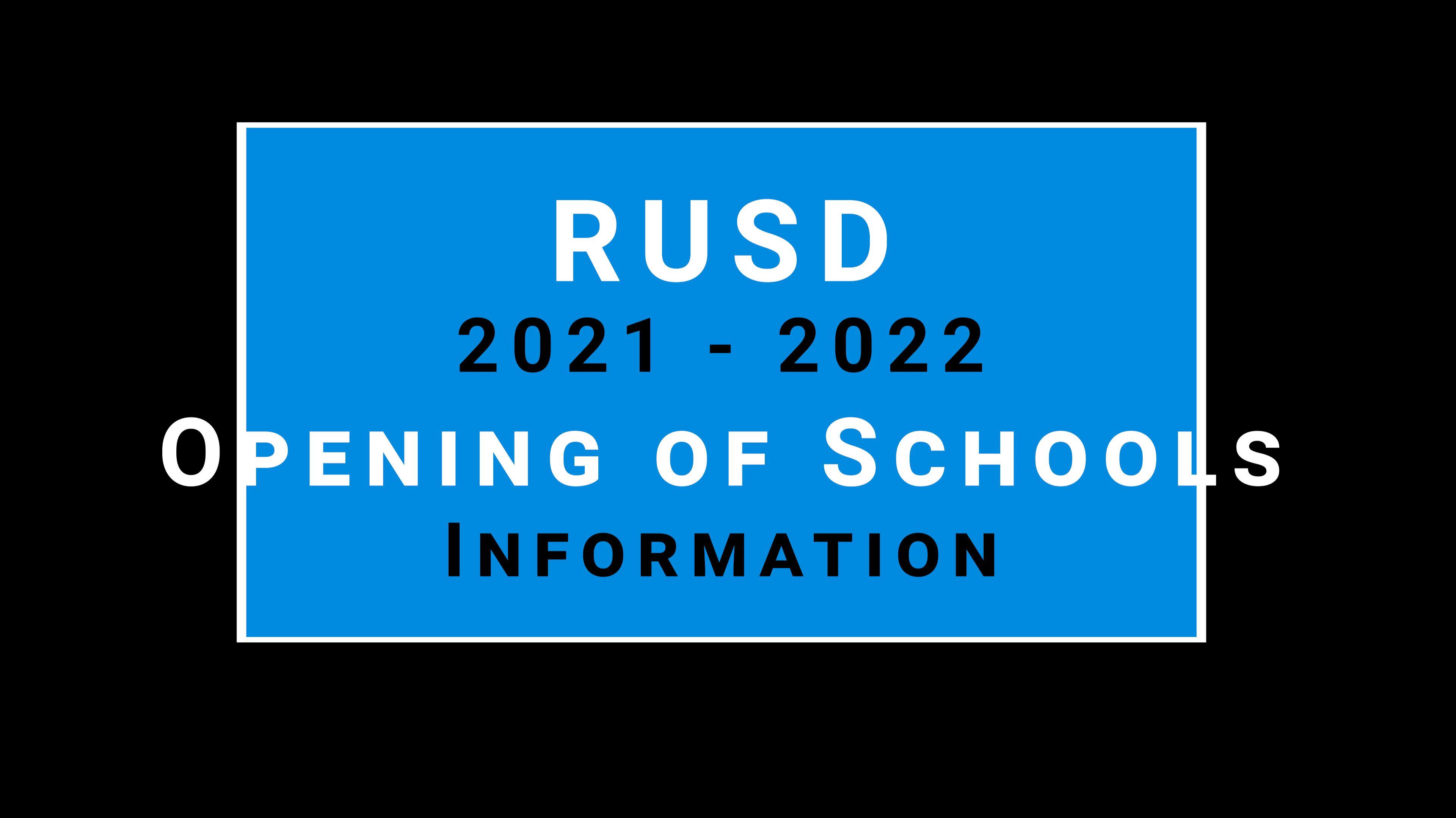 Opening of School Video
