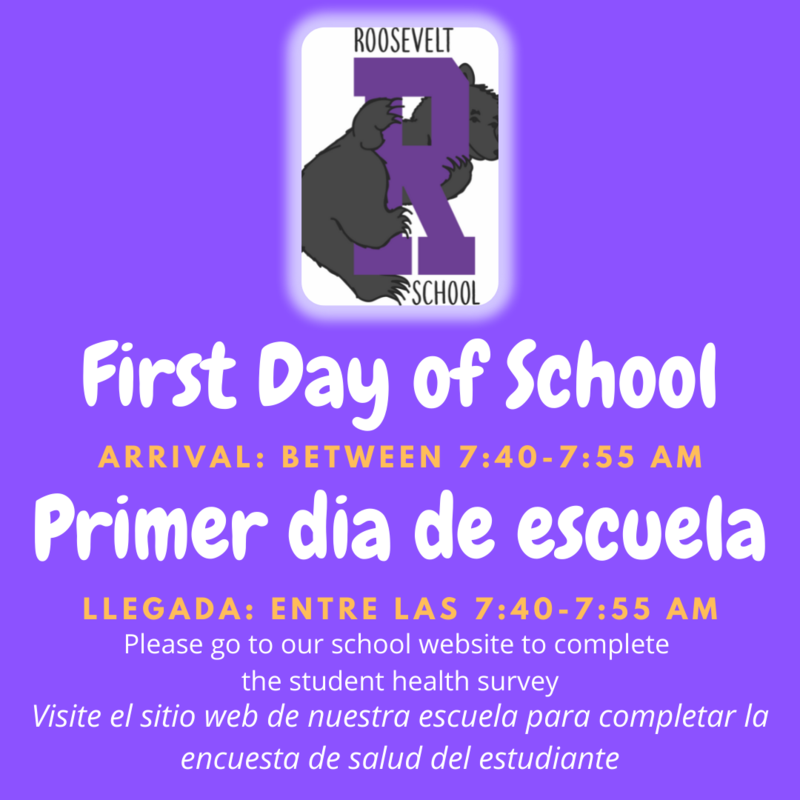 First day of school drop off times