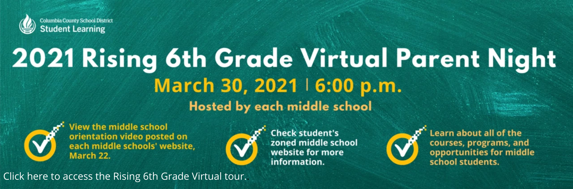 Rising 6th Grade Virtual Tour Link