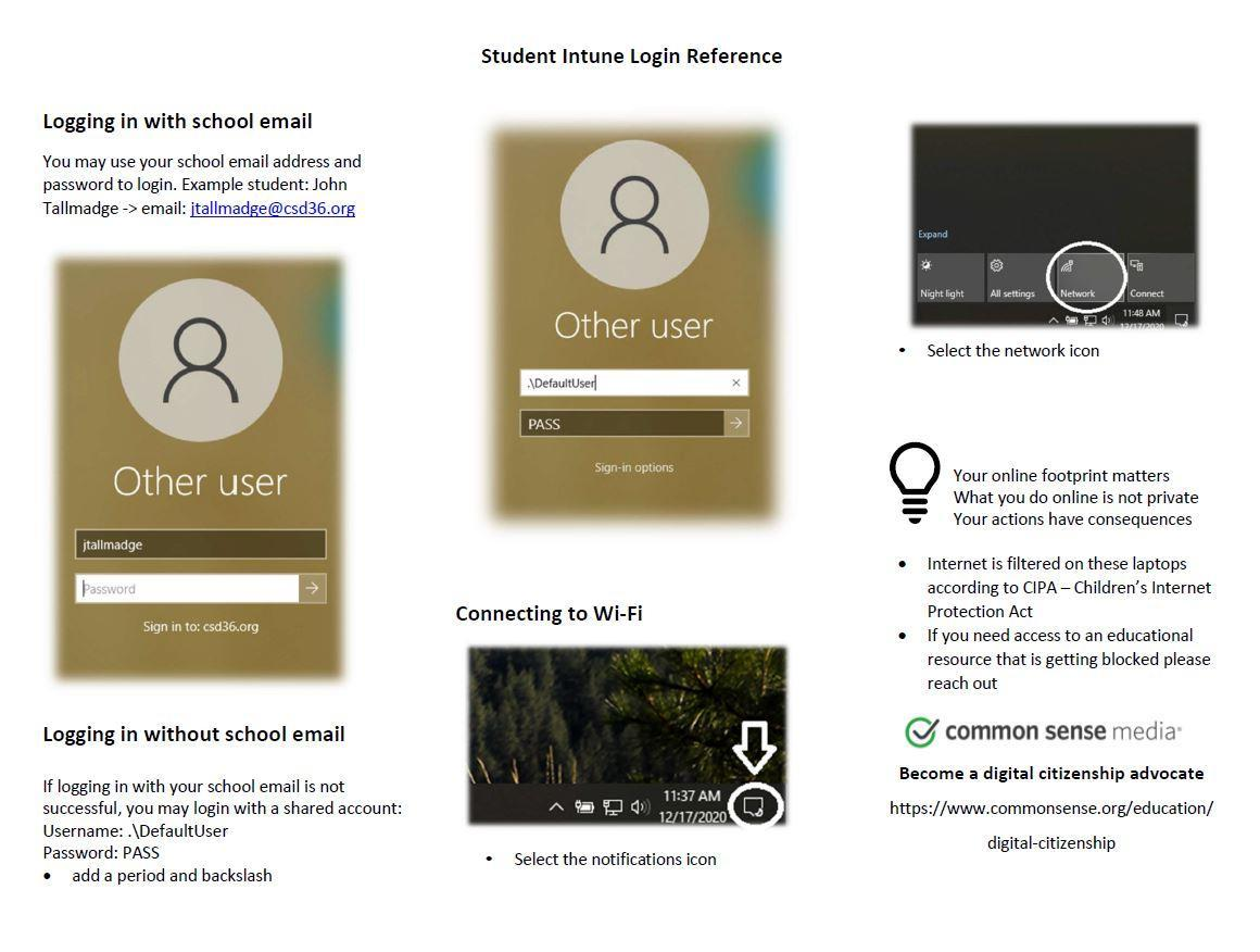 Intune Login Reference
