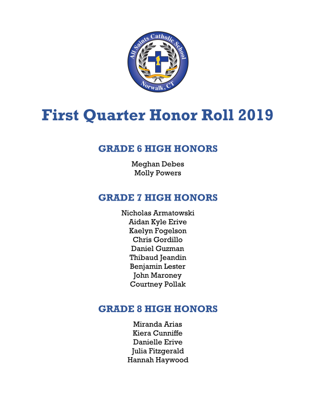 First Quarter Honor Roll Thumbnail Image