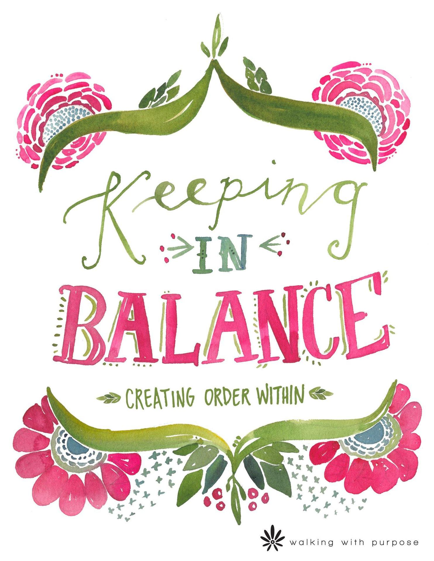 Keeping in Balance