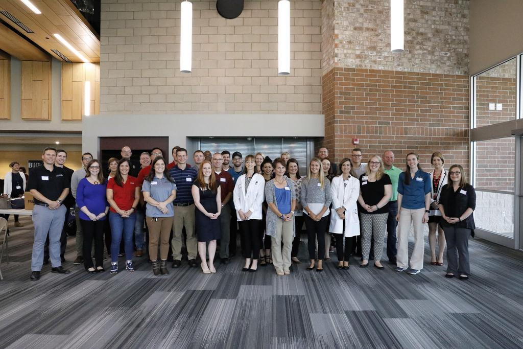 group photo of Career Day professionals