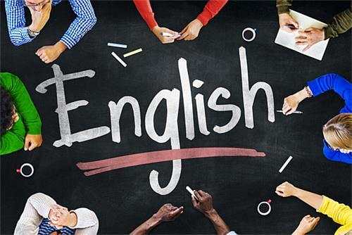 Picture that says English