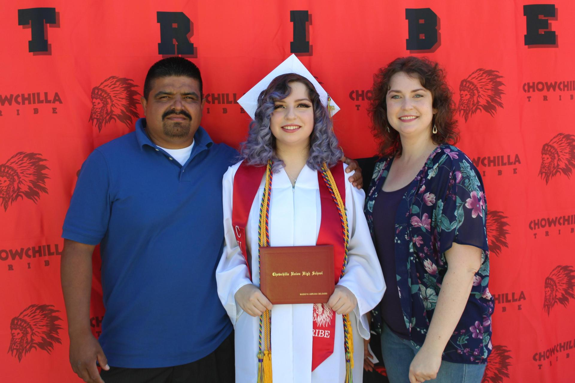 Madisyn Delgado and family