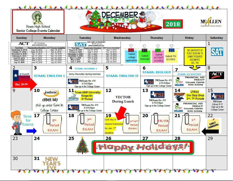 December College Center Events