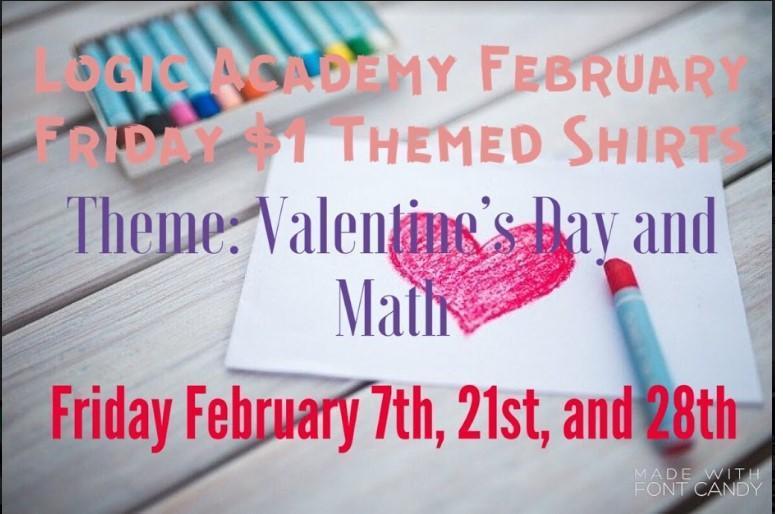 Logic Academy February Friday $1 Themed Shirts Featured Photo