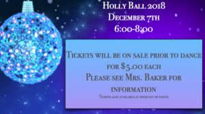 Holly Ball Friday Dec. 7 from 6:00pm to 8:00pm