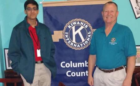 student and kiwanis club president