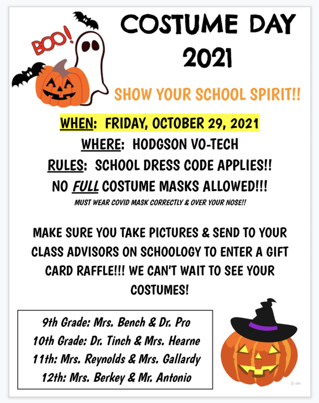 Costume Day Flyer