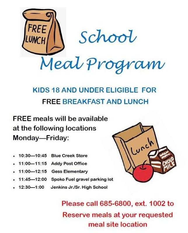Meal Program Schedule