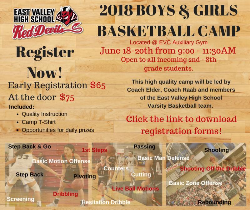 Basketball Camp flyer.