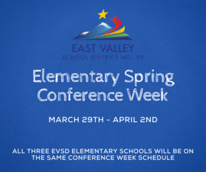 East Valley School District Spring Conference Week