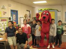 Clifford The Big Red Dog, visiting Mr. Neto's class!